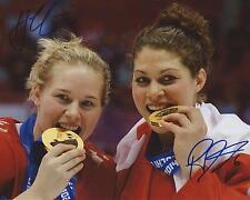 Haley Irwin & Rebecca Johnston Signed 8×10 Photo Team Canada Sochi Olympics COA