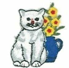 Burmilla Cat Breed w/ Flowers Embroidery Applique Patch