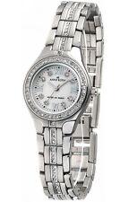 AK Anne Klein Women's Mother-of-Pearl Dial Swarovski Crystal Watch 9709MPSV
