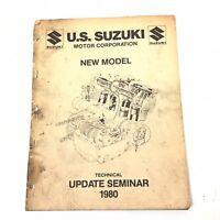1980 SUZUKI New Model  GS450T TECHNICAL UPDATE SEMINAR Manual FACTORY OEM