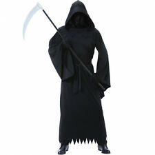 Mens Halloween Grim Reaper Phantom of Darkness Costume Adult Size Medium/Large