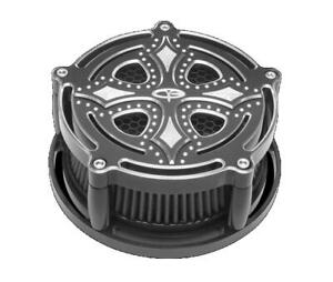 Precision Billet DRK-210-4H-BLK Dark Side Billet Air Cleaner - Black