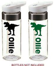 DINOSAUR personalised name sticker for school drinks water bottle kids sports