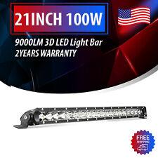 Nilight Single Row LED Light Bar 21inch 100W Spot Flood Combo 9000LM Off Road 20