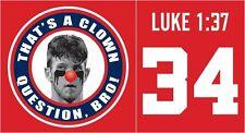 Bryce Harper That S a Clown Question Bro Washington Funny Shirt Large