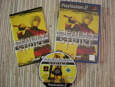 PLAYSTATION 2 PS 2 DEADLY STRIKE