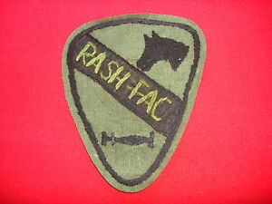 RASH-FAC US 1st Cavalry Division Vietnam War Hand Made Subdued Patch