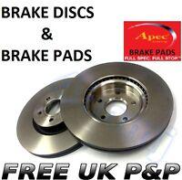RENAULT TRAFIC 2001- FRONT Brake Discs & APEC Brake Pads