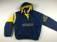 VTG Michigan Wolverines NCAA Starter Hooded Pullover Insulated Jacket Sz XL