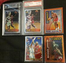 1996-97 Topps Chrome Michael Jordan # 139 NBA 50TH BGS & PSA FINEST Pippen LOT