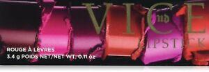 Urban Decay Vice Lipstick ~ Metallized Ember / Backfire ~ Cream Barfly / Streak