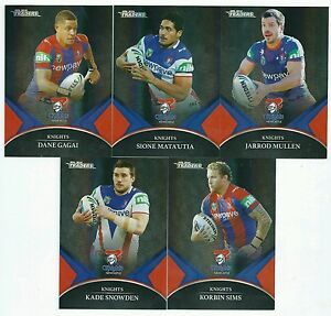 2016 NRL Traders Black Parallel Special KNIGHTS Team Set FREE POSTAGE