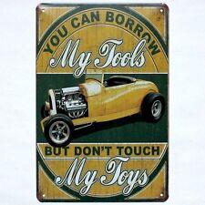 Metal Tin Sign YOU CAN BORROW MY TOOLS Decor Bar Pub Home Vintage Retro Poster