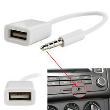 3.5mm Male AUX Audio Plug Jack To USB 2.0 Converter Cord Cable Car MP3