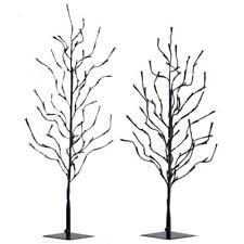 "NEW Raz LED Lighted Black and Orange Glittered Halloween Tree 34.5"" or 40.5"""