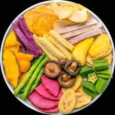 Healthy crispy snack 200g:yam, jackfruit, mushroom, banana, okra, pumpkin, apple