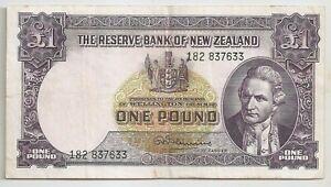 New Zealand 1 pound ND (1967)