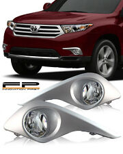 11-13 TOYOTA HIGHLANDER CLEAR LENS FOG LIGHT COMPLETE KIT SWITCH AND HARNESS