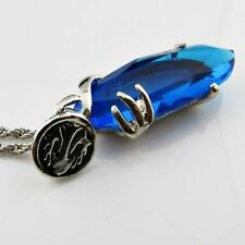 FINAL FANTASY 7 8 9 10 COSPLAY COLLANA PIETRA BLU NECKLACE CLOUD AERITH YUNA