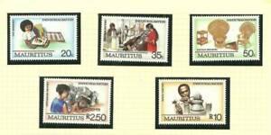 MAURITIUS SG771-775 INDUSTRIALISATION MNH