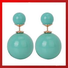 Orecchini di bigiotteria perli turchesi