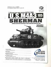 Heng Long Sherman 1/16 instruction pièces Menu UK