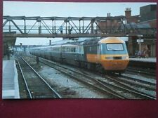 POSTCARD OPC-126 INTER CITY 125 SERVICE IN 1979 PASSING THROUGH DONCASTER
