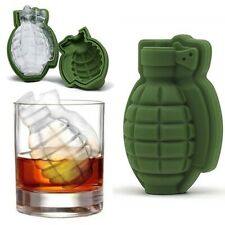 Ice Cube Mold 3D Grenade Shape Maker Bar Party Silicone Trays Mold