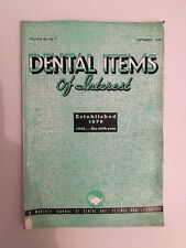 Dental Items of Interest n°9 A monthly Journal September 1938