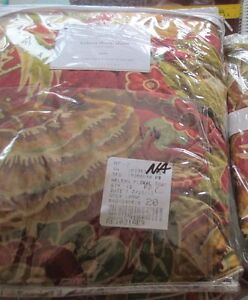 1  Pottery Barn Helena Floral  red  Euro sham New without tag