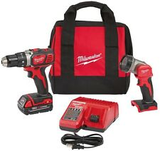 Milwaukee Cordless 1/2 in. Compact Drill/Worklight Kit Tool 18-Volt Lithium-Ion