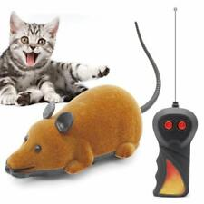 Wireless Electric RC Flocking Rat Toys Pet Cat Play Remote Control Mouse Gift