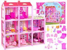 Villa Puppenhaus Landhaus Dollhouse PuppenHäuser + Möbel + Puppe NEU 60x65x17cm
