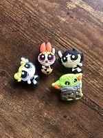 Powerpuff Girls + Baby Yoda Star Wars Crocs Pins Jibbitz Shoe Charms Lot