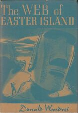 The Web of Easter Island by Donald Wandrei Arkham House First Edition FINE copy