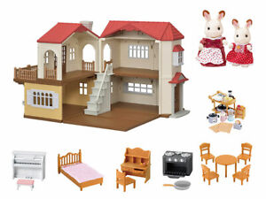 CALICO CRITTERS #CC1797 Red Roof Country Home Gift Set - New Factory Sealed