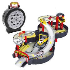 DIY Assembly Spiral Roller Rail City Parking Garage Car Track Set Kids Toy