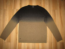 Strellson, shadow ombre brown 100% wool jumper, size xl.