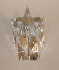 Signed Val Saint Lambert VSL Belgium Crystal Glass Shooting Star Paperweight