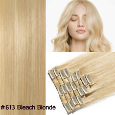 Best Clip In Remy Human Hair Extensions Full head 16-22Inch MY Blonde Brown US