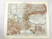 1907 Antik Map Of Österreich Ungarn Österreich Ungarische Reich Budapest Europa