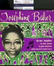 JOSEPHINE BAKER JSA COA HAND SIGNED 45 RECORD AUTHENTIC AUTOGRAPH