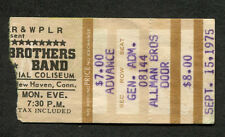 1975 Allman Brothers Band concert ticket stub New Haven Ct Win Lose or Draw