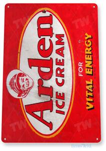 TIN SIGN Arden Ice Cream Retro Metal Sign Décor Shop Kitchen Cottage Farm A219