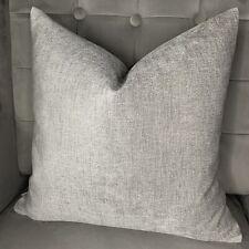 "Modern Cushion Cover 16""x16"" Grey Decor & Chenille Fabric Contemporary Style"