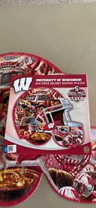 University of Wisconsin Badgers Helmet Shaped Puzzle 500 piece Complete