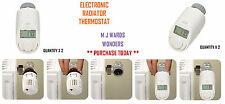 2 x Electronic Radiateur Thermostat-avec le contrôle de température Qté 2 total