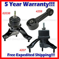 M010 Engine Motor & Trans Mount Set 3pcs for 2008-2013 Toyota Highlander 3.5L