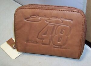RICO #48 JIMMIE JOIHNSON NASCAR LEATHER ZIPPER CHANGE COIN PURSE ID HOLDER