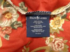RALPH LAUREN MARSEILLES DANIELLE AMAZING COTTON RED MAROON FLORAL KING BED SKIRT